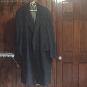 Men's Adolfo grey wool 3/4 length dress coat